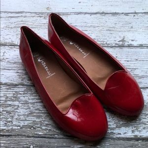 Red Jeffrey Campbell Leather Mention Flats 9 M
